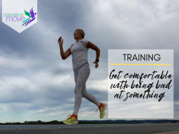 Title image - Training - get comfortable with being bad at something - running image